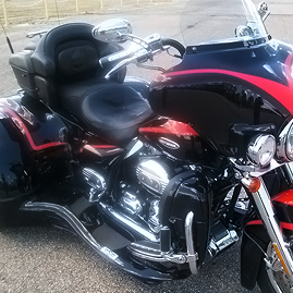 Black Trike with Red Decals